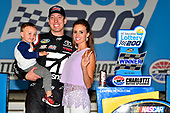 NASCAR Camping World Truck Series<br /> North Carolina Education Lottery 200<br /> Charlotte Motor Speedway, Concord, NC USA<br /> Friday 19 May 2017<br /> Kyle Busch, Cessna Toyota Tundra celebrates his win in Victory Lane<br /> World Copyright: Nigel Kinrade<br /> LAT Images<br /> <br /> ref: Digital Image _DSC7378