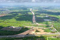 Autobahnbaustelle A26 Hamburg Anschluss an A7: EUROPA, DEUTSCHLAND, HAMBURG (EUROPE, GERMANY), 23.05.2021: Autobahnbaustelle A26 Hamburg Anschluss an A7