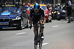 Edvald Boasson Hagen (NOR) Sky Procycling in action during the Prologue of the 99th edition of the Tour de France 2012, a 6.4km individual time trial starting in Parc d'Avroy, Liege, Belgium. 30th June 2012.<br /> (Photo by Eoin Clarke/NEWSFILE)