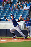 Kevin Brophy (9) of Morristown Beard High School in Randolph, New Jersey playing for the Texas Rangers scout team during the East Coast Pro Showcase on July 30, 2015 at George M. Steinbrenner Field in Tampa, Florida.  (Mike Janes/Four Seam Images)
