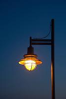 Streetlamp at night.