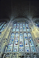 Cambridge: King's College Chapel window. Photo '82.