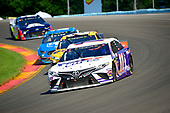 #11: Denny Hamlin, Joe Gibbs Racing, Toyota Camry FedEx Cares, #20: Erik Jones, Joe Gibbs Racing, Toyota Camry DeWalt