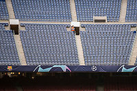 .14th September 2021: Nou Camp, Barcelona, Spain: ECL Champions League football, FC Barcelona versus Bayern Munich: FC Barcelona stadium  stands with no fans before the match