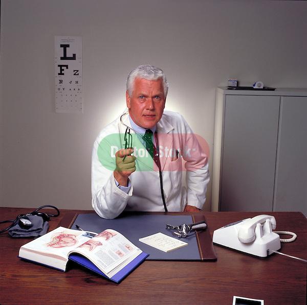 Doctor in office explaining disease