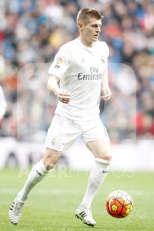 Real Madrid's Toni Kroos during La Liga match. February 13,2016. (ALTERPHOTOS/Acero)