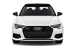 Car photography straight front view of a 2021 Audi A6-Sedan Premium-Plus 4 Door Sedan Front View