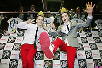 16/7/2010. Jedward are pictured at the launch of their new album at HMV Dundrum. Picture James Horan/Collins Photos