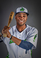 11 June 2019: Vermont Lake Monsters outfielder Danny Bautista poses for a portrait on Photo Day at Centennial Field in Burlington, Vermont. The Lake Monsters are the Single-A minor league affiliate of the Oakland Athletics and play a short season in the NY Penn League Stedler Division. Mandatory Credit: Ed Wolfstein Photo *** RAW (NEF) Image File Available ***
