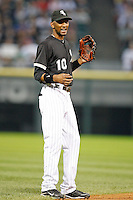August 7, 2009: Shortstop Alexei Ramirez (10) of the Chicago White Sox in the field during a game vs. the Cleveland Indians at U.S. Cellular Field in Chicago, IL.  The Indians defeated the White Sox 6-2.  Photo By Mike Janes/Four Seam Images