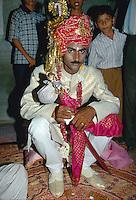 Bräutigam im Haus der Braut, Bikaner (Rajasthan)