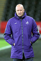 Pictured: Swansea coach Cameron Toshack Tuesday 28 February 2017<br /> Re: Premier League International Cup, Swansea City U23 v Hertha Berlin II at at the Liberty Stadium, Swansea, UK