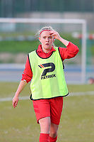 Jana Simons (8) of Woluwe pictured before a female soccer game between FC Femina White Star Woluwe and KRC Genk on the third matchday of play off 2 in the 2020 - 2021 season of Belgian Scooore Womens Super League , Friday 23 th of April 2021  in Woluwe , Belgium . PHOTO SPORTPIX.BE | SPP | SEVIL OKTEM