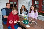 Enjoying the evening in Kate Browne's Ardfert on Friday, l to r: Andrew, Callum, Elizabeth and Alva Nash.