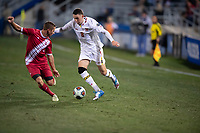 Santa Barbara, CA - Friday, December 7, 2018:  Maryland men's soccer defeated Indiana 2-0 in a semi-final match in the 2018 College Cup.  William James Herve