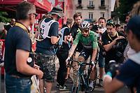 Peter Sagan (SVK/Bora-Hansgrohe) escorted to the podium<br /> <br /> Stage 18: Trie-sur-Baïse > Pau (172km)<br /> <br /> 105th Tour de France 2018<br /> ©kramon