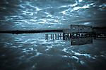 Old wharf at Okarito Lagoon. Westland Region. New Zealand.