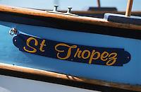 Europe/France/Provence-Alpes-Côte d'Azur/83/Var/Saint-Tropez: Détail barque de pêche sur le port