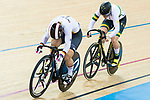 Stephanie Morton of Australia and  Kristina Vogel of Germany compete on the Women's Sprint Final Race 2 during the 2017 UCI Track Cycling World Championships on 14 April 2017, in Hong Kong Velodrome, Hong Kong, China. Photo by Marcio Rodrigo Machado / Power Sport Images