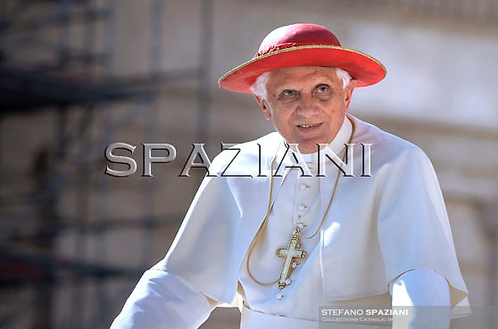Pope Benedict XVI waves as he leaves his weekly general audience on October 7, 2009 at St Peter's square at The Vatican.