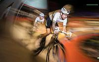 Madison World Champions Mark Cavendish (GBR/Dimension Data) & Sir Bradley Wiggins (GBR/Wiggins) in full swing<br /> <br /> 2016 Gent 6<br /> day 5