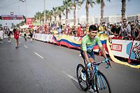 Stage 2 winner & Green Jersey Nairo Quintana (COL/Movistar)<br /> <br /> Stage 3: Ibi. Ciudad del Juguete to Alicante (188km)<br /> La Vuelta 2019<br /> <br /> ©kramon
