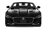 Car photography straight front view of a 2021 Jaguar F-Type - 2 Door Convertible Front View