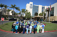 April, 16,, 2021. Vista. USA.   National Donate Life Blue and Green Day.   Jamie Scott Lytle. Copyright.
