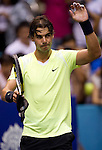 BANGKOK, THAILAND - OCTOBER 01:  Rafael Nadal of Spain acknowledges after winning his match against Mikhail Kukushkin of Kazakhstan during the Day 7 of the PTT Thailand Open at Impact Arena on October 1, 2010 in Bangkok, Thailand. Photo by Victor Fraile / The Power of Sport Images
