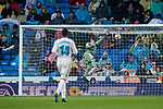 Goalkeeper Keylor Navas of Real Madrid fails to save the goal scored by Pablo Fornals of Villarreal CF during the La Liga 2017-18 match between Real Madrid and Villarreal CF at Santiago Bernabeu Stadium on January 13 2018 in Madrid, Spain. Photo by Diego Gonzalez / Power Sport Images