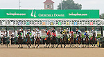 """September 06, 2014:   Cristina's Journey and Miguel Mena win the 46th running of the Pocahontas Grade 2 $200,000 """"Win and your in Juvenile Fillies Division"""" Breeders Cup prep race for owner GSN Racing and trainer Dale Romans.  Candice Chavez/ESW/CSM"""