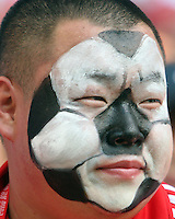Korean fan. The Korea Republic and France played to a 1-1 tie in their FIFA World Cup Group G match at the Zentralstadion, Leipzig, Germany, June 18, 2006.