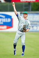 Fred Ford (19) of the Lexington Legends warms up in the outfield prior to the game against the Kannapolis Intimidators at CMC-Northeast Stadium on July 31, 2013 in Kannapolis, North Carolina.  The Intimidators defeated the Legends 3-2.  (Brian Westerholt/Four Seam Images)