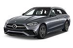 2022 Mercedes Benz C-Class AMG-Line 5 Door Wagon Angular Front automotive stock photos of front three quarter view