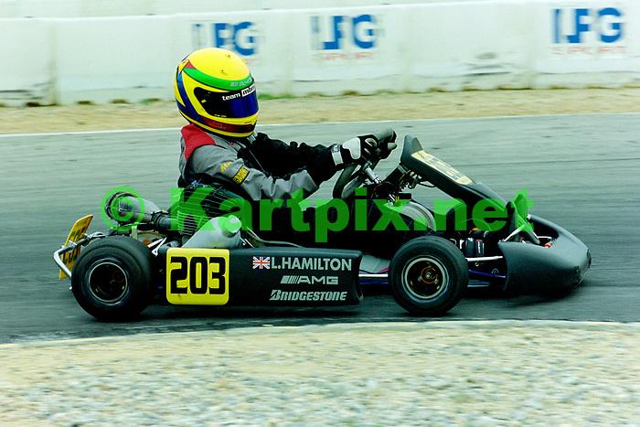 Lewis Hamilton Valence Circuit Karting Centre International 2000<br /> <br /> European Karting Championships