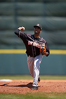 Jupiter Hammerheads starting pitcher Edward Cabrera (28) during a Florida State League game against the Florida Fire Frogs on April 11, 2019 at Osceola County Stadium in Kissimmee, Florida.  Jupiter defeated Florida 2-0.  (Mike Janes/Four Seam Images)