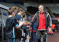 Francesco Guidolin, Manager of Swansea City arrives during the Swansea City FC v Manchester City Premier League game at the Liberty Stadium, Swansea, Wales, UK, Sunday 15 May 2016