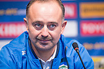 Uzbekistan head coach Samvel Babayan attends a press conference prior to their 2018 FIFA World Cup Russia Asian Qualifiers Final Qualification Round Group A match against Korea Republic at the Seoul World Cup Stadium on 14 November 2016 in Seoul, South Korea. Photo by Victor Fraile / Power Sport Images