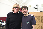 """Peter Noone and Jonny Amies during the Sneak Peak Meet the cast and creative team of the World Premiere production of """"My Very Own British Invasion"""" on January 16, 2019 at the Church of Saint Paul The Apostle in New York City."""