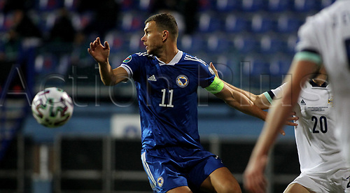 8th October 2020, Sarajevo Bosnia; European International Football Championships playoff,  Bosnia and Herzegovina versus Northern Ireland;  Edin Dzeko Bosnia and Herzegovina
