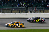 #20: Erik Jones, Joe Gibbs Racing, Toyota Camry DeWalt and #48: Jimmie Johnson, Hendrick Motorsports, Chevrolet Camaro Ally