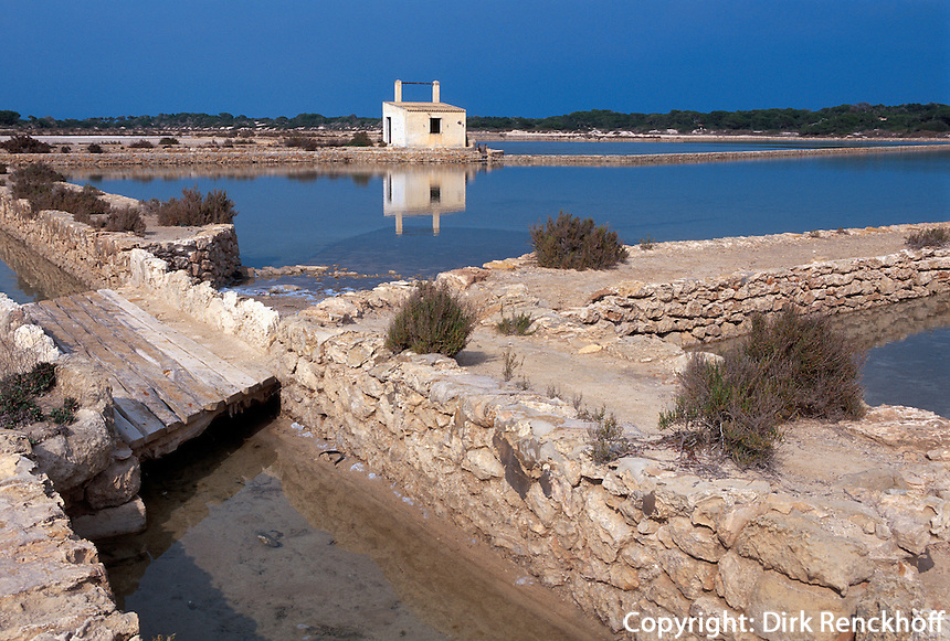 Spanien, Balearen, Formentera, in den Salinen
