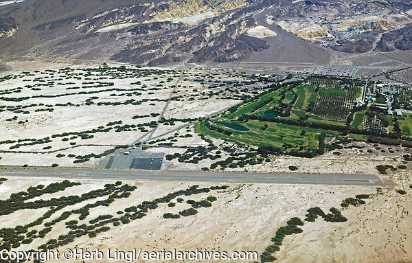 aerial photograph of Furnace Creek airport (L06), Death Valley National Park, California