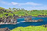 USA, HI, Maui, Hana, Waianapanapa SP, Black Sand Beach