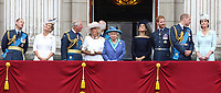 HRH Prince Charles, Prince of Wales pictured at the 100th Anniversary of the Royal Air Force, Buckingham Palace, London, UK on Tuesday 10th July 2018<br /> <br /> Photo by Keith Mayhew