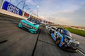 #16: Austin Hill, Hattori Racing Enterprises, Toyota Tundra SiriusXM, #13: Johnny Sauter, ThorSport Racing, Ford F-150 Tenda Products