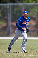 New York Mets Jeff Diehl (25) during practice before a minor league Spring Training game against the Miami Marlins on March 26, 2017 at the Roger Dean Stadium Complex in Jupiter, Florida.  (Mike Janes/Four Seam Images)
