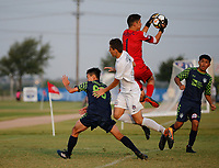 Frisco, Texas - Thursday, July 26, 2018: 2018 US Youth Soccer National Championships.<br /> United SA Mount Pleasant 03 Premier vs OK Energy FC Central 03