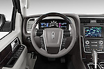 Car pictures of steering wheel view of a2015 Lincoln Navigator Select 5 Door SUV Steering Wheel