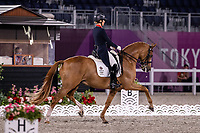 GBR-Charlotte Dujardin rides Gio during the Dressage Grand Prix Team Final at the Equestrian Park. Tokyo 2020 Olympic Games. Tuesday 27 July 2021. Copyright Photo: Libby Law Photography
